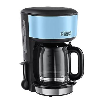 Russell Hobbs Colours Plus+ Cafetera, Jarra de Cristal, 1000 W, 1.25 litros, Acero Inoxidable, Negro, Azul: Amazon.es: Hogar