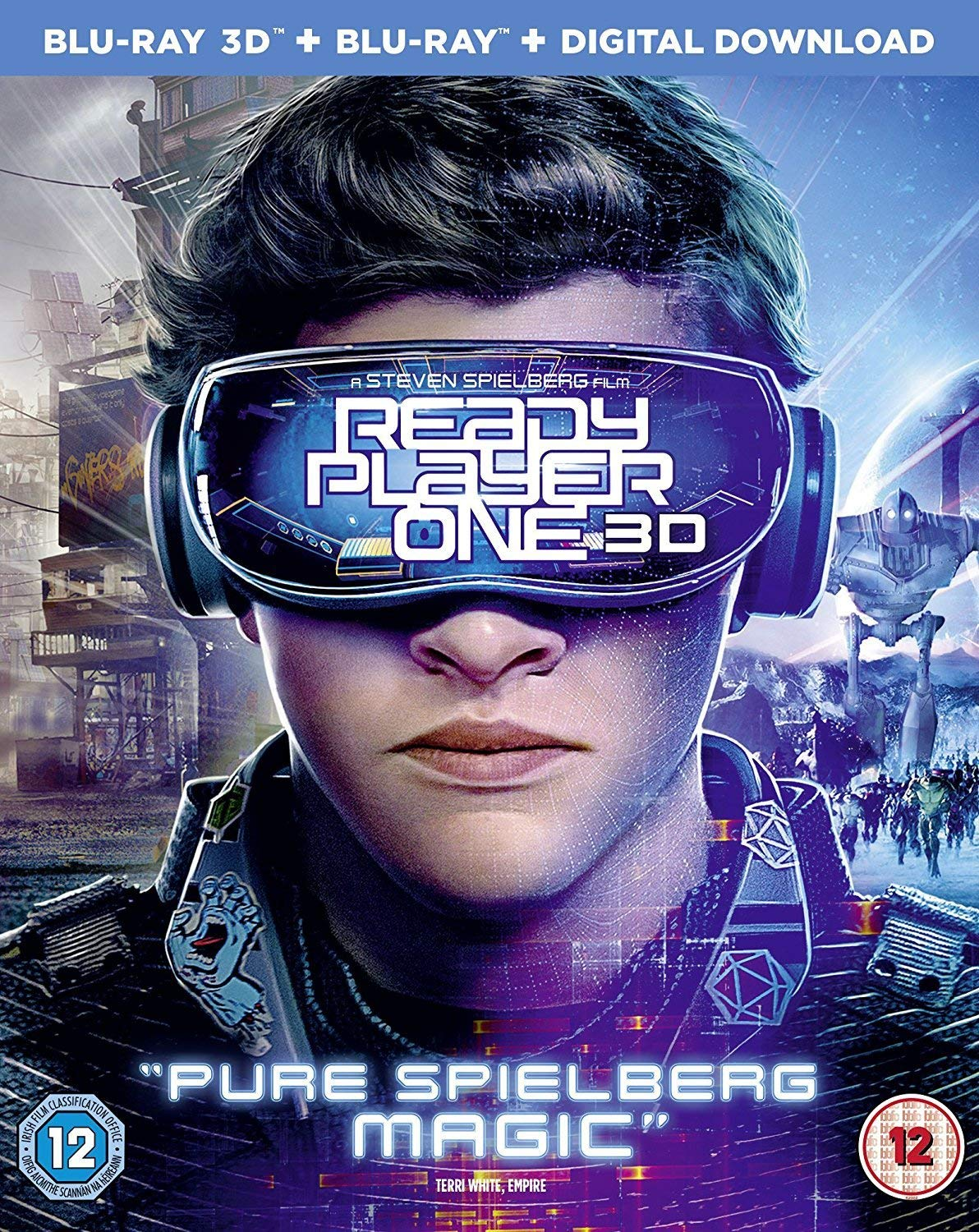 Ready Player One 3d Blu Ray Blu Ray Tye Sheridan Olivia Cooke Ben Mendelsohn Mark Rylance Simon Pegg Steven Spielberg Movies Tv