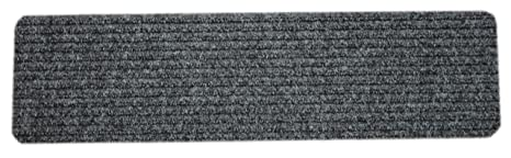 Dean Carpet Stair Treads/Runners/Mats/Step Covers   Dark Grey Ribbed 23u0026quot
