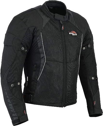 Veste de course de motocross CE blind/ée imperm/éable toutes saisons Noir Veste de course et de sport pour homme