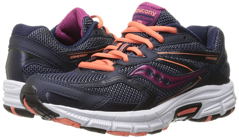 Saucony Women's Cohesion 9 Running Shoe B01C8UEZJQ 7 B(M) US|Navy/Coral/Pink