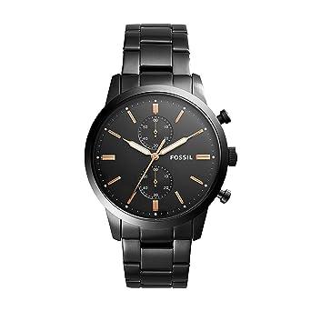 05751e425807 Fossil Reloj Cronógrafo para Hombre de Cuarzo con Correa en Acero Inoxidable  FS5379  Amazon.es  Relojes
