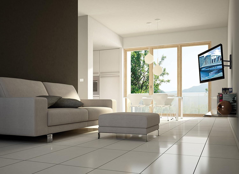 Meliconi SlimStyle 600 SDR, Supporto Doppio Braccio Ultra Sottile ...