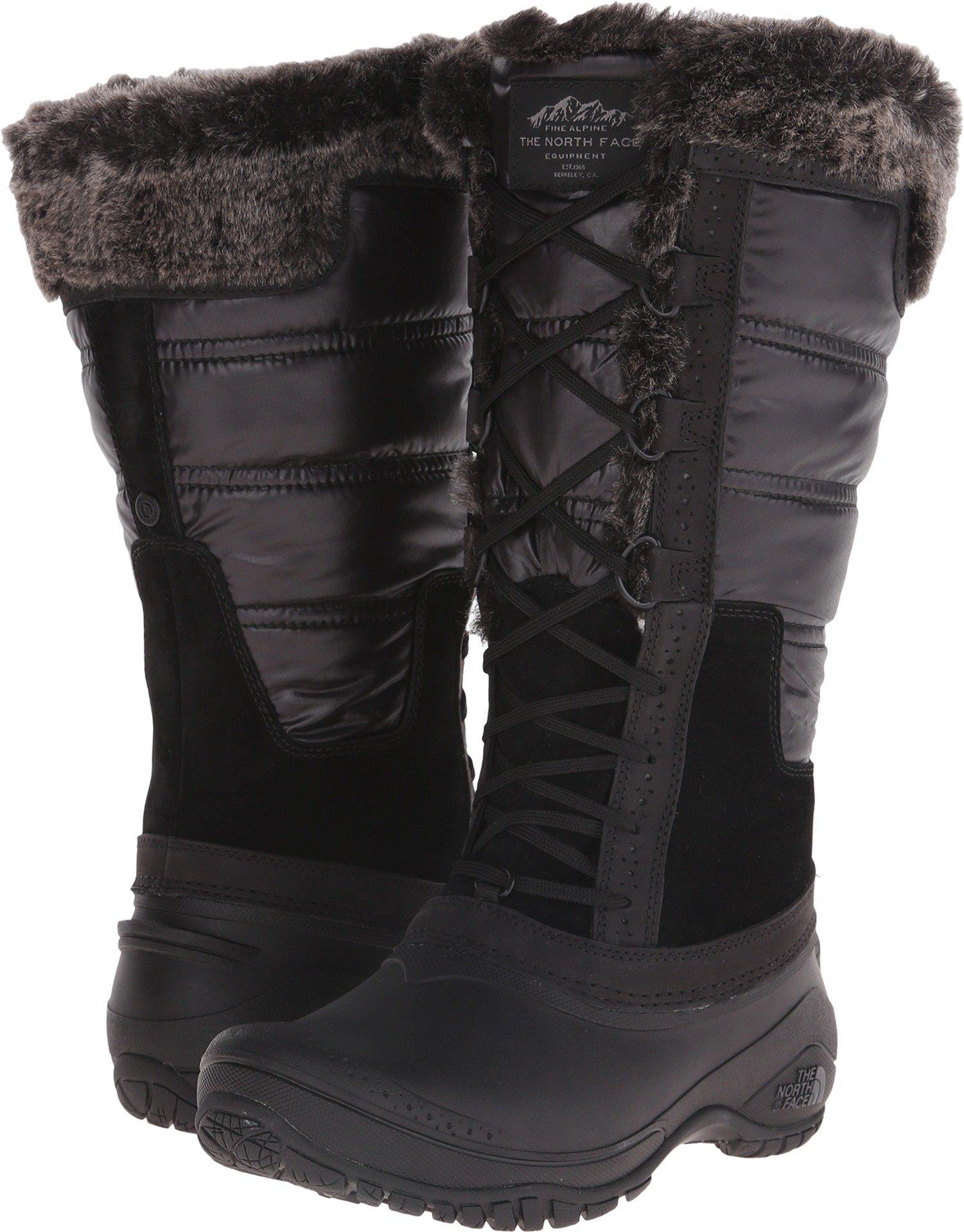 The North Face Shellista Ii Tall Tnf Black/Plum Kitten Grey Womens Winter Boot (8.5)