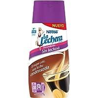 Nestlé La Lechera Leche Condensada Desnatada sin lactosa, Botella Sirve Fácil - Caja de 8x450