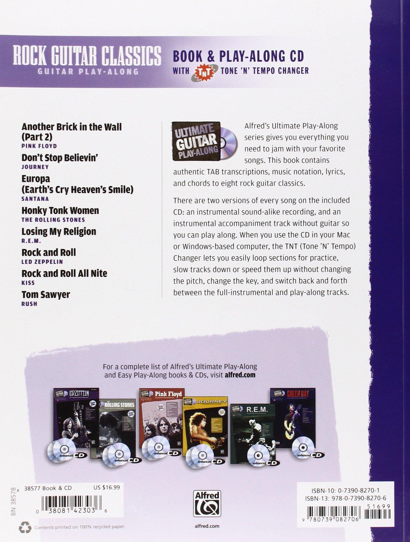 Amazon Ultimate Guitar Play Along Rock Guitar Classics Bookcd