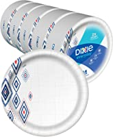 "Dixie Everyday Paper Plates,10 1/16"" Plate, 220 Count, Amazon Exclusive Design, 5 Packs of 44 Plates, Dinner Size..."