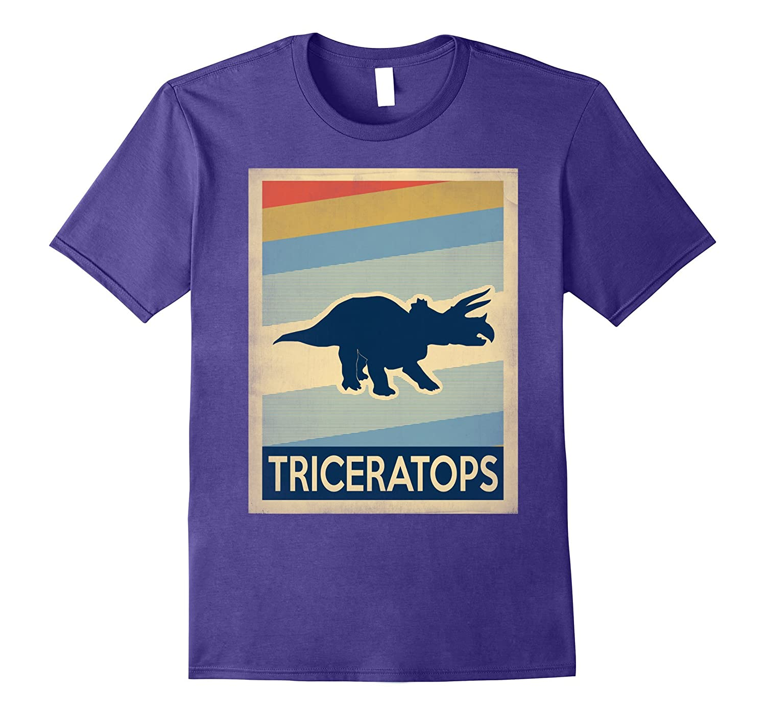 Vintage style triceratops tshirt-Art
