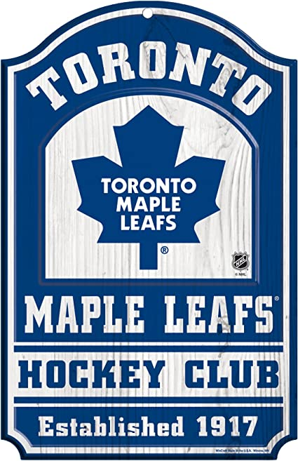 Amazon Com Wincraft Nhl Toronto Maple Leafs Hockey Club Wood Sign 11 X 17 Multicolor Sports Outdoors