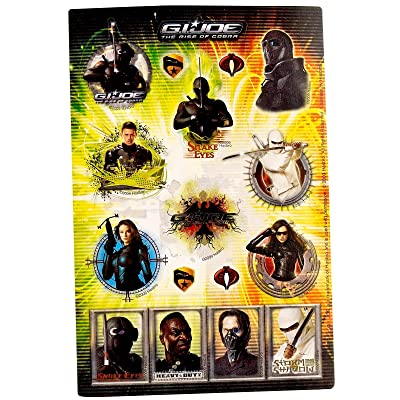 GI JOE Rise of the Cobra Stickers (2 sheets) Party Accessory: Toys & Games