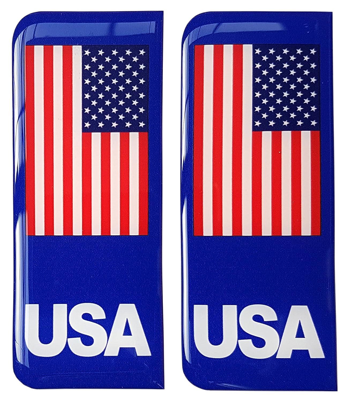 Autocollant plaque immatriculation USA drapeau américain en Badge Gel 3D Résine Dôme