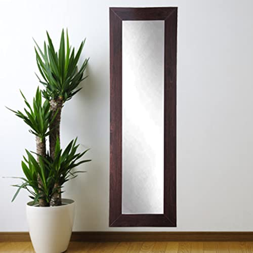 BrandtWorks BM6SKINNY Walnut Full Length Mirror