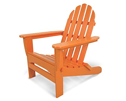 amazon com polywood ad5030ta classic folding adirondack tangerine