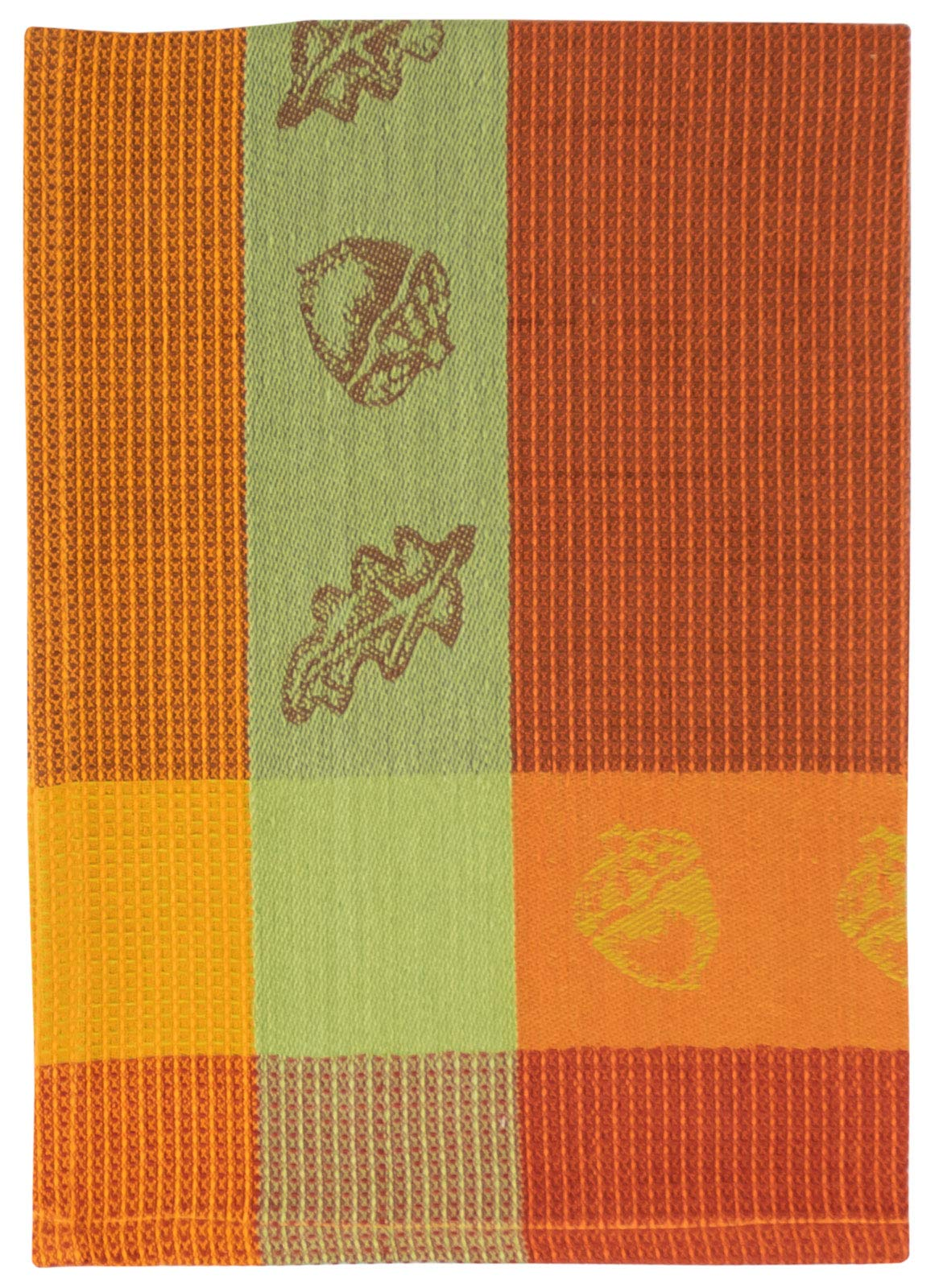 Traders and Company 100% Cotton Orange & Green 20''x28'' Dish Towel, Set of 6 - Acorn Pumpkin by Traders and Company