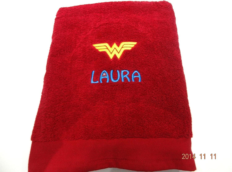 di You Have un superh/éroe Mum//Gran//t/ía? /Wonder Woman LADYBUGS N BOBBINS Toalla de ba/ño Personalizada/