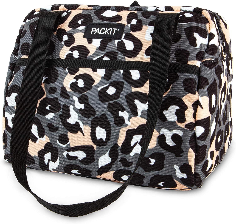 PackIt Freezable Hampton Lunch Bag, Wild Leopard Gray
