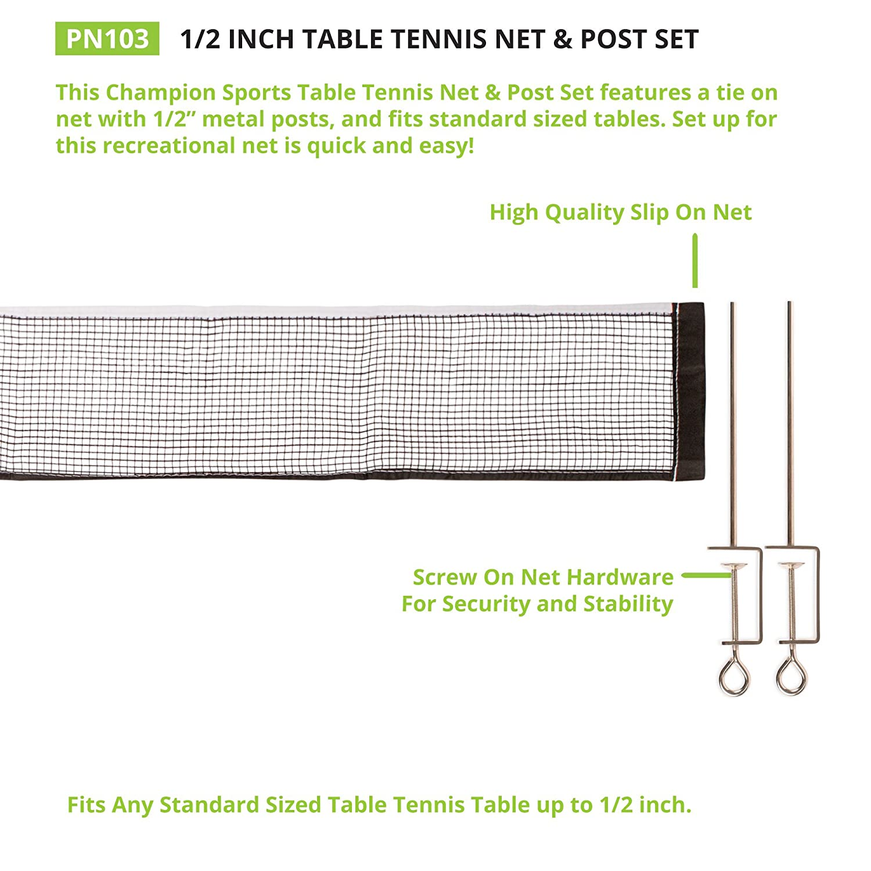 Champion Sports Tischtennis Net Post Set 151 Cm Amazon
