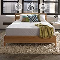 Sleep Innovations Shea 10-inch Memory Foam Mattress with Quilted Cover, Made in The USA with a 20-Year Warranty - California King Size
