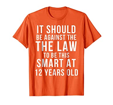 Mens 12th Birthday T Shirt For 12 Year Old 2XL Orange