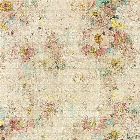 Stile Retrò Vintage Wallpaper Fiori Sfondo Foto Thin Stripes Bambini
