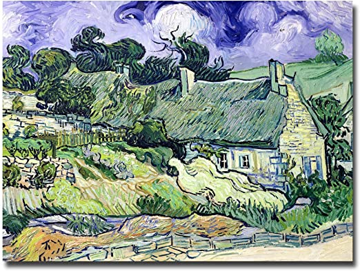 Fine Art Print Van Gogh Drawings Cottage Garden
