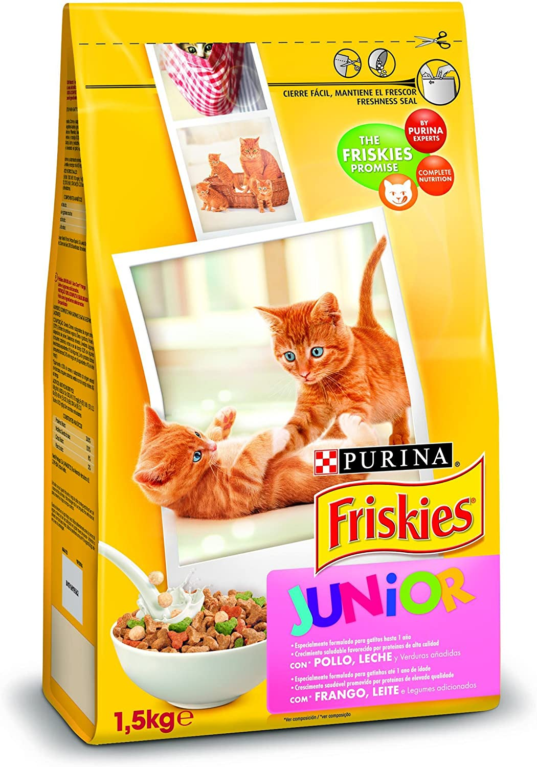Purina Friskies Pienso para Junior Gato hasta 1 año 6 x 1,5 Kg: Amazon.es: Productos para mascotas