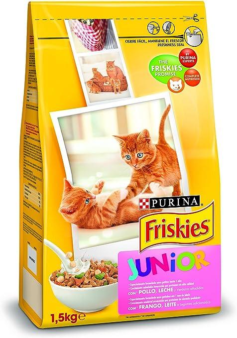 Purina Friskies Pienso para Junior Gato hasta 1 año 6 x 1,5 Kg ...