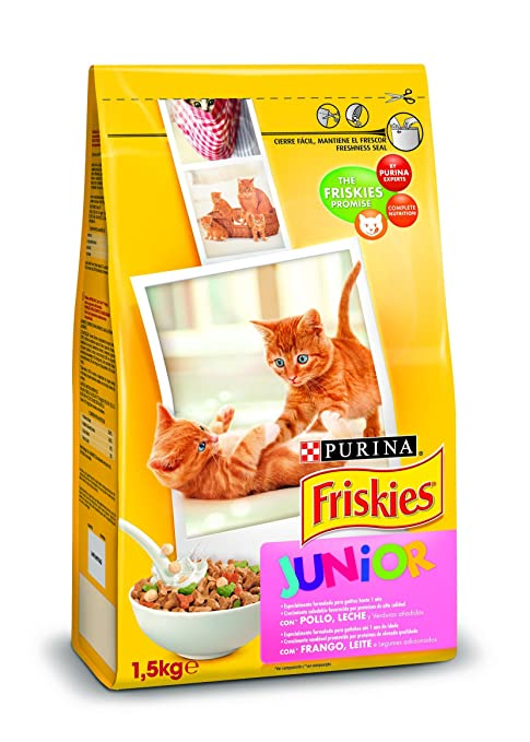 Purina Friskies Pienso para Junior Gato hasta 1 año 6 x 1,5 Kg