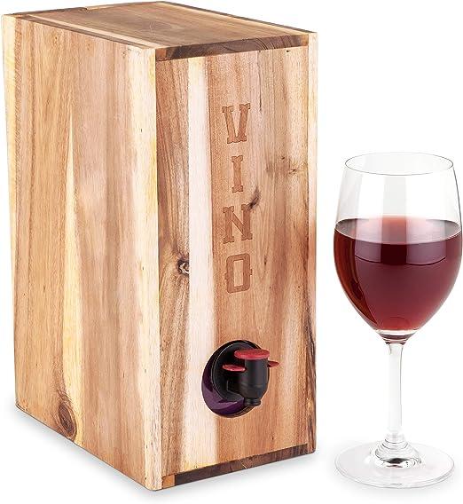 Twine Country Home - Cubierta para Vino de Madera de Acacia en Caja por Cordel: Amazon.es: Hogar