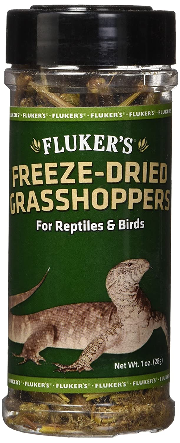 Fluker's 72018 Freeze-Dried Grasshoppers Reptile Food, 1 oz Fluker's 919072