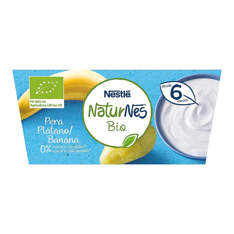 Nestlé Naturnes Bio - Postre lácteo Pera y Plátano - Postre ...