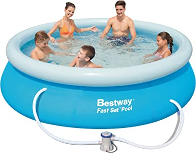 Bestway 10-Foot by 30-Inch Fast Set Round Pool Set
