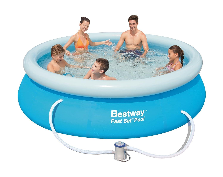 Bestway 10-Foot by 30-Inch Fast Set Round Pool Set