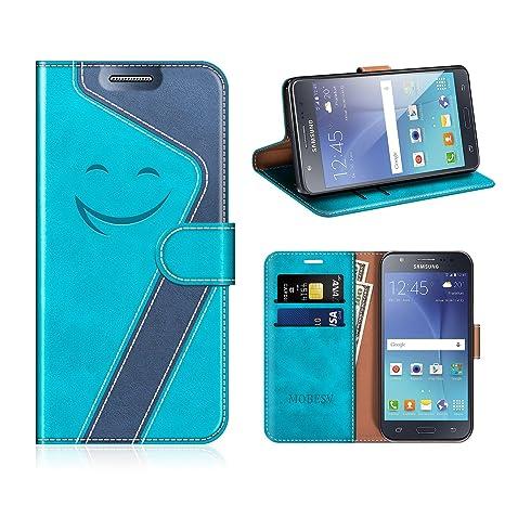 MOBESV Smiley Funda Cartera Samsung Galaxy J5 2015 Magnético, Funda Cuero Movil Samsung J5 2015 Carcasa Case con Billetera/Soporte para Samsung Galaxy ...