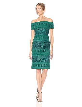 993a5e2db40 ML Monique Lhuillier Women s Off Shoulder Dress at Amazon Women s Clothing  store