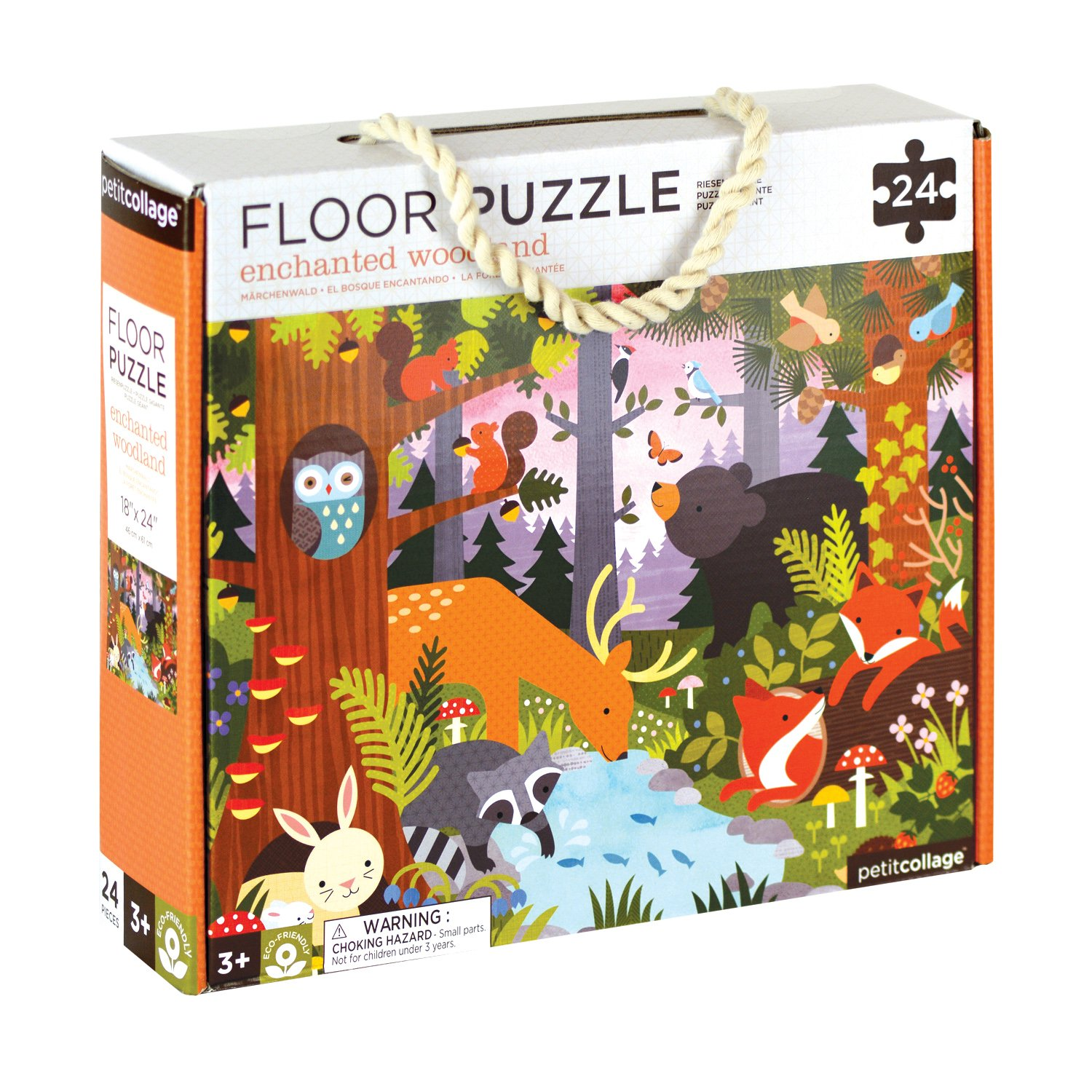 Petit Collage Enchanted Woodland Floor Puzzle, 24 pieces