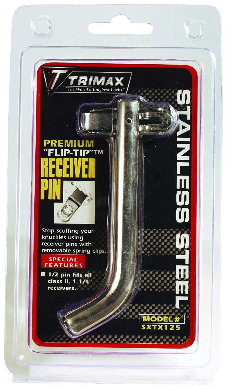 Trimax SXTX125 Premium Stainless Steel Flip-Tip 1//2 Receiver Pin