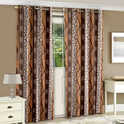 Incroyable Story@Home Eyelet Fancy Polyester 2 Pc COMBO Ringtop Eyelet Designer Door  Curtains, 7