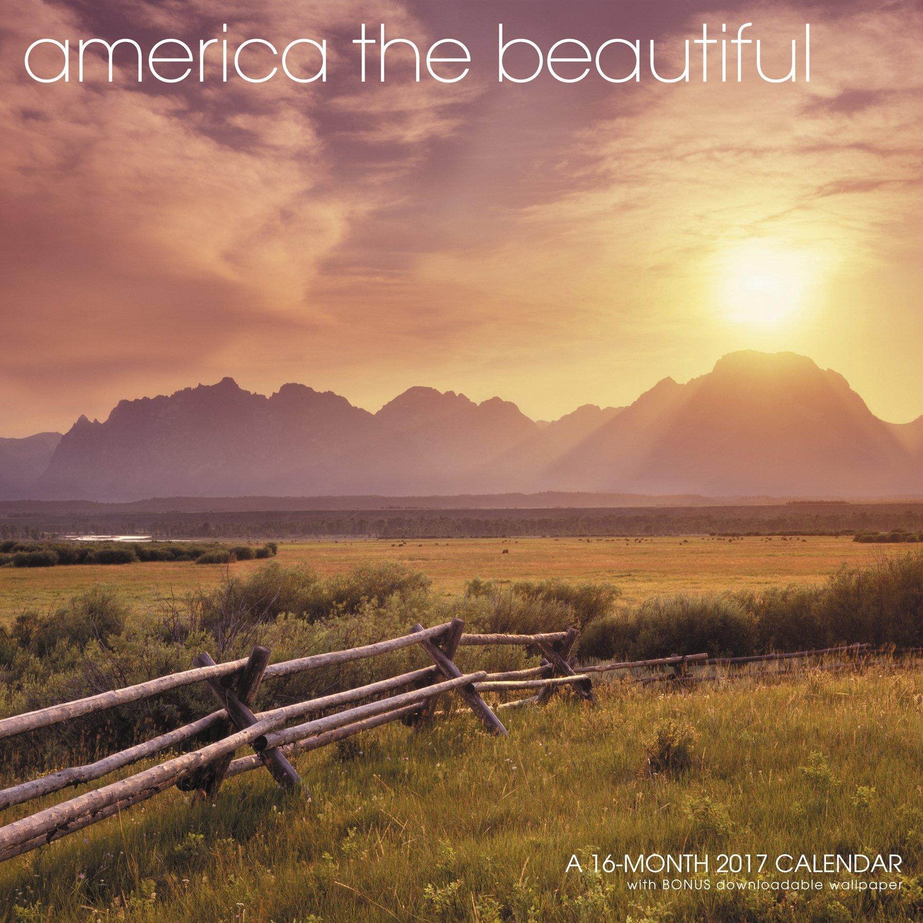America Beautiful Wall Calendar Landmark product image