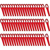 FORMIZON 60 Pcs Cuchillas de Plástico, Cuchillas de Recambio para Cortacésped Bosch, Art 23-18Li, Art 26-18Li, 1083-B3…