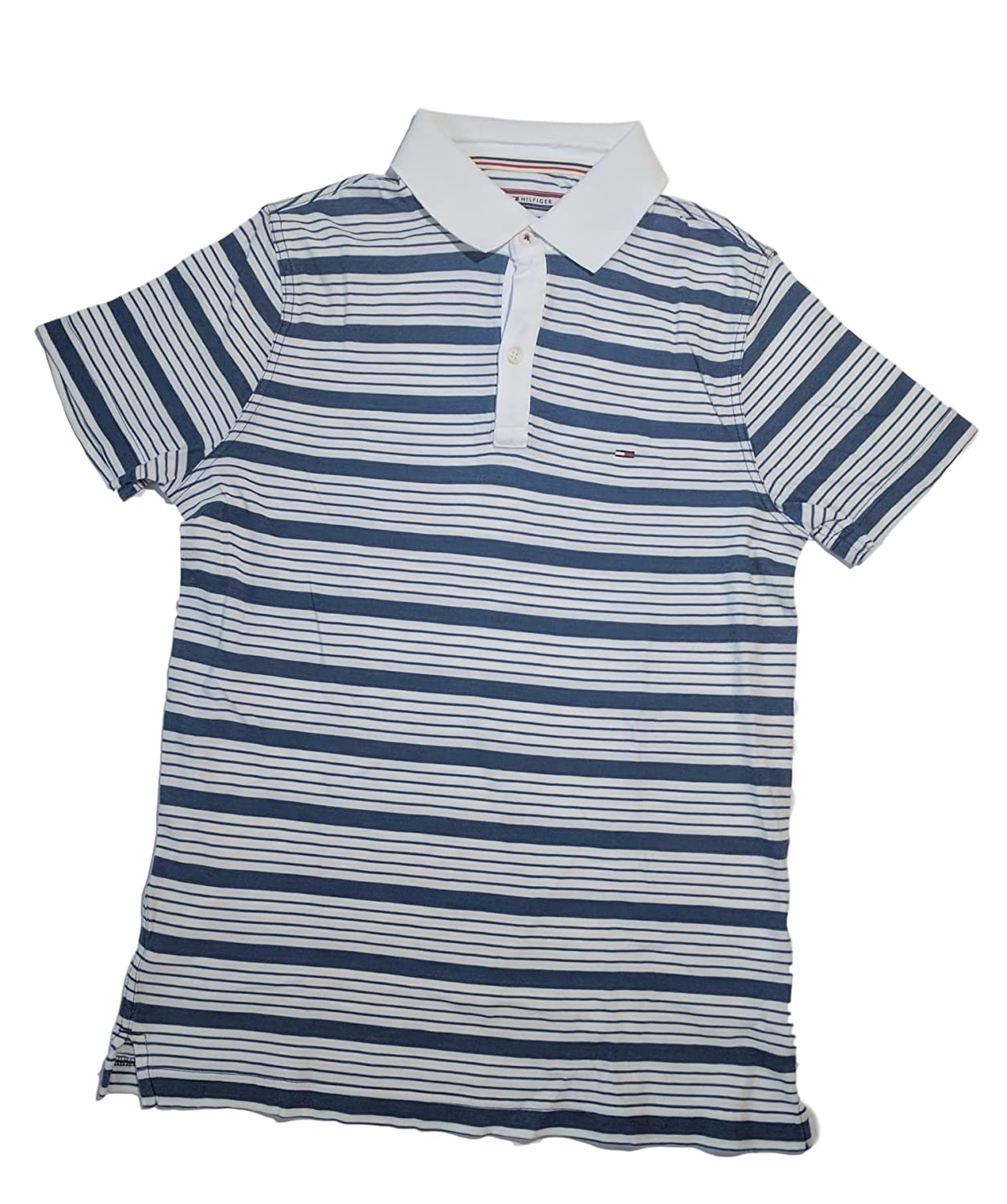 46780697 Tommy Hilfiger Men's Thin Stripes Lightweight Polo Shirt at Amazon ...