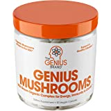 Genius Mushroom – Lions Mane, Cordyceps and Reishi – Immune System Booster & Nootropic Brain Supplement – Wellness Formula fo