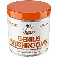 Genius Mushroom – Lions Mane, Cordyceps and Reishi – Immune System Booster & Nootropic...