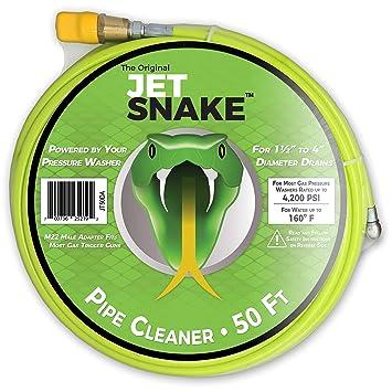 JetSnake Sewer Jetter - Limpiador de desagüe de 50 pies para tu ...