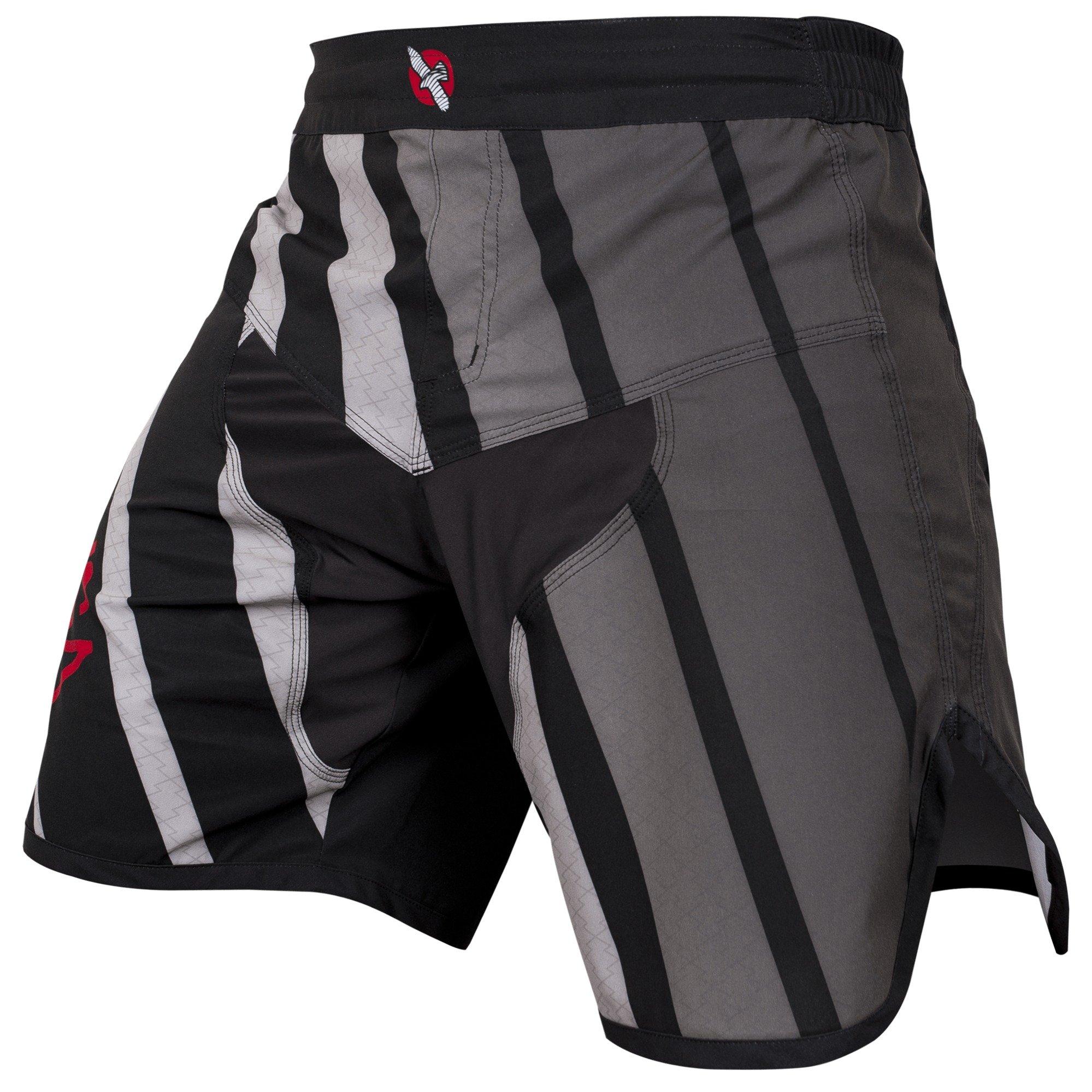 Hayabusa Flex Fight Shorts, 36, Black by Hayabusa