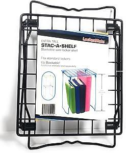 It's Academic LockerMate Stac-A-Shelf 12 Inch Wire Locker Shelf Black