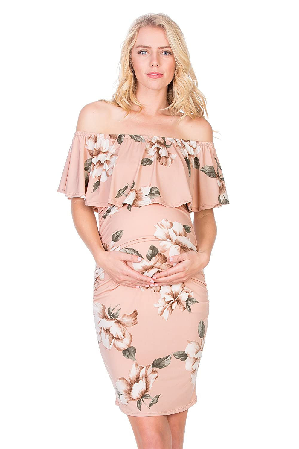 My Bump DRESS レディース B07FK9QSKN Small|ブラッシュ 花(Blush Flower) ブラッシュ 花(Blush Flower) Small