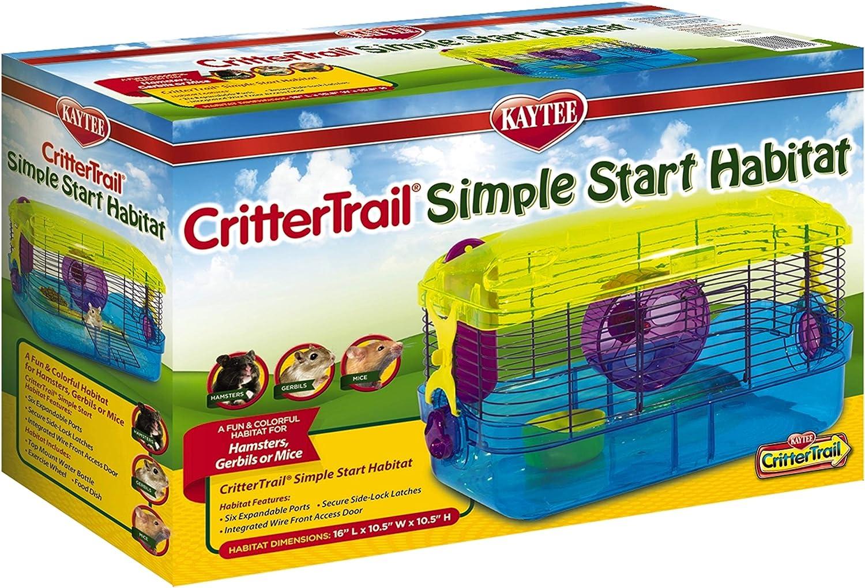 Kaytee CritterTrail Simple Start Habitat Jaula para Animales pequeños, hámsters, jerbos, Ratones