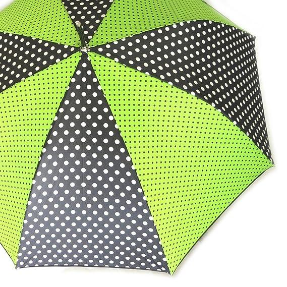 Paraguas de caña Joy Heartverde oscuro (guisantes).: Amazon.es: Equipaje
