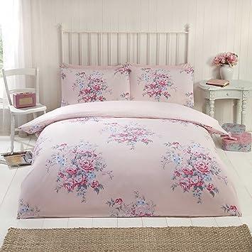 100 Baumwolle Feinbiber Bettwäsche King Größe Quilt Bettbezug Pink